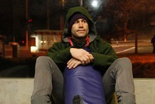 Marc Ellis took part in the Big Sleepout campaign last year. Photo / Steven McNicholl