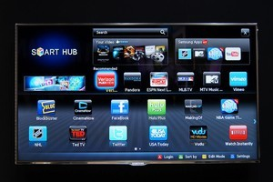 Samsung's internet TV provides viewers with many options. Photo / Supplied