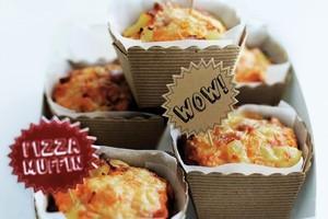 Pizza muffins. Photo / Ben Dearnley