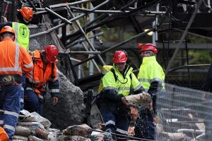 Mines Rescue staff have put a letter indicating their intentions down the Pike River coal mine. Photo / Iain McGregor