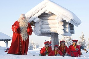 Santa's 'elves' were a little too human to fool even the children. Photo / Rovaniemi Tourism