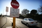 An average of 150 motorists a month breach the bus-lane rules on Grafton Bridge. Photo / Greg Bowker