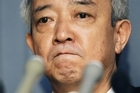 Japanese Reconstruction Minister Ryu Matsumoto punctuates while announcing his resignation during a press conference in Tokyo Tuesday, July 5, 2011. Photo / AP