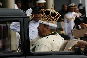 King George Tupou V during his coronation in 2008. Photo / NZ Herald