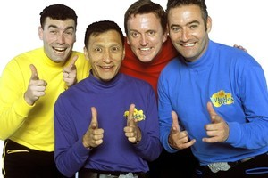 Wiggles member Jeff Fatt, second from left, is recovering from emergency heart surgery. Photo / Supplied