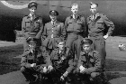 Crew of one of the famous Dambusters Lancaster bombers - Kiwi Les Munro is at top left. Photo / RAF