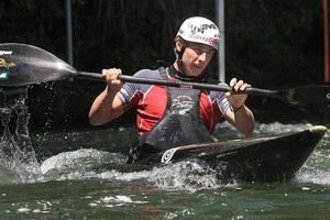 Tauranga's Mike Dawson, who doubles as a top extreme kayaker, has impressed in World Cup races and has two chances to claim a canoe slalom spot at the London Olympics. Photo / Jamie Troughton