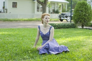 Jessica Chastain in 'The Tree of Life', set her mind on acting at the age of 8. Photo / Supplied