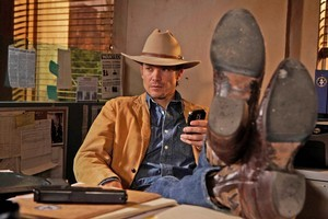 Timothy Olyphant plays modern lawman Raylan Givens with all the sexy aplomb of a young Clint Eastwood. Photo / Supplied