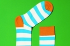 Viva Shopfront: Stripes: Happy Socks, $25, from Playpark by Karen Walker. Photo / Supplied