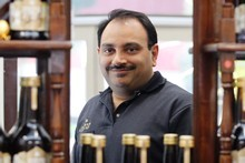 Manuka Gold liqueur is one of the many products Darius Karani has developed. Photo / Sarah Ivey
