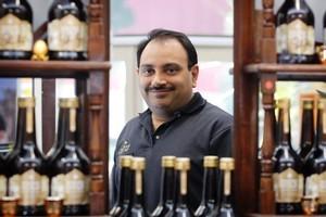 Manuka Gold liqueur is one of the many products Darius Karani has developed. Photo / Sarah Ivey