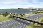 An artist's impression of the planned bridge over SH20. Photo / Fulton Hogan