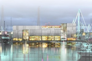 An artists impression of the new hotel planned for waterfront. Photo / Supplied