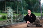 Brandon O'Reilly proved an attractive visitor to one of Auckland Zoo's locals. Photo / Janna Dixon
