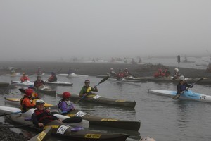 Up to 150 paddlers of all abilities take part in the Brass Monkey paddling on the Waimakariri River. Photo / Supplied