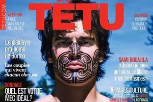 Alexis Palisson wears a mock moko for French magazine 'Tetu'. Photo / Tetu