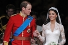 Prince William and his wife Kate, Duchess of Cambridge, after their wedding. Photo / AP