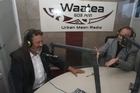 Maori Party co-leader Dr Pita Sharples (L) with Willie Jackson on Radio Waatea. Photo / Glenn Jeffrey