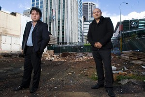 John (left) and  Michael Chow want to open a brothel on the Palace Hotel site. Photo / Paul Estcourt