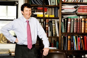 John Stephens' favourite bookcase. Photo / Babiche Martens