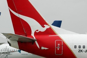 Qantas is sending a new plane to pick up the South African rugby team. Photo / Brett Phibbs