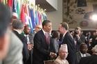 Barack Obama and John Key will meet again in Washington next Saturday. Photo / Erin Siegal