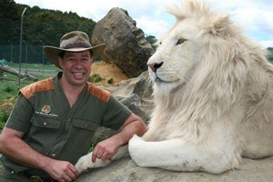 Reports that Lion Man Craig Busch is negotiating to buy back Zion Wildlife Gardens have been refuted by his mother. File photo / NZ Herald