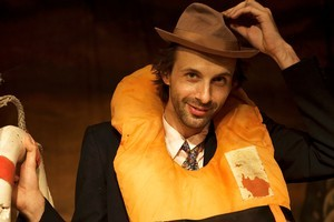 Florian Habicht gets into character on the opening night of the NZ International Film Festival. Photo / Dallas Pickering