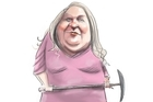 Gina Rinehart. Cartoon / Rod Emmerson