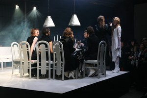 Nom*D's dinner party installation captivated at last year's NZ Fashion Week, but a date change and the Christchurch earthquakes mean designer Margi Robertson and her team won't be showing at this year's event. Photo / Babiche Martens