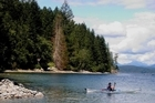 Kayaking the Okeover Arm near Lund. Photo / Tourism BC, Dannielle Hayes