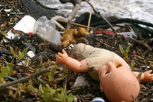 Plastic bottles are the most common items found dumped on Auckland's shorelines. Photo / Supplied