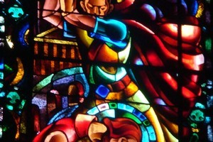 The stained-glass window was installed in 1941. Photo / Supplied