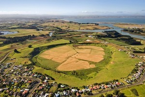 The volcanic Pukaki lagoon crater in Mangere. Photo / Supplied
