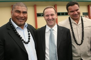 Michael Jones and Inga Tuigamala were both supporters of Prime Minister John Key in the 2008 election. Photo / Paul Estcourt