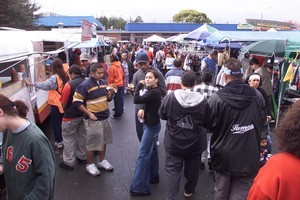 About 5000 people visit the Otara Market each Saturday. Photo / NZ Herald