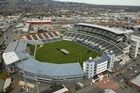 AMI stadium, formerly Lancaster Park, was the venue for NZ's first cricket test. Photo / Simon Baker