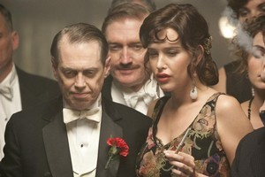 Bigwig Enoch Johnson (Steve Buscemi) and temperamental mistress (Paz de la Huerta). Photo / Supplied