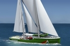 Illustration of Rainbow Warrior III that is being built in Poland and will be finished next October. Photo / Supplied