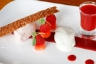 Strawberries prepared five ways at Cullens. Photo / Christine Cornege