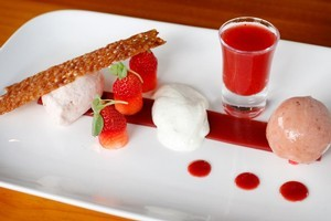 Strawberries prepared five ways at Cullens. Photo / Christine Cornege
