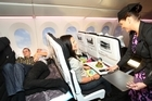 Optimal Usability are part of the creative team behind Air NZ's Skycouch. Photo / Natalie Slade