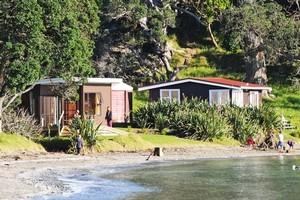 Baches in the bay at Scandrett Regional Park. Photo / Liz Light