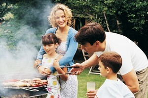 In summer the men in a family are - theoretically - on holiday and can assume the cooking duties to give 'Mum' a break. Photo / Thinkstock