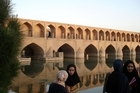 Local women gather by the Bridge of 33 Arches in Isfahan. Photo / Jill Worrall
