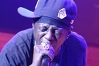 Flavor Flav of Public Enemy performs at Auckland Town Hall. Photo / Hugh Sundae