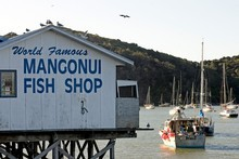 The Mangonui fish shop in this working port town justifiably claims to be world famous. Photo / Kenny Rodger