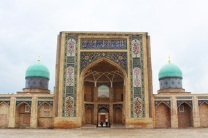 A former medressa, part of the Central Asian Religious Board complex in Tashkent, now used as a handicraft centre. Photo / Jim Eagles
