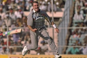 Dion Nash celebrates a wicket during the 1996 Cricket World Cup. Photo / Getty Images